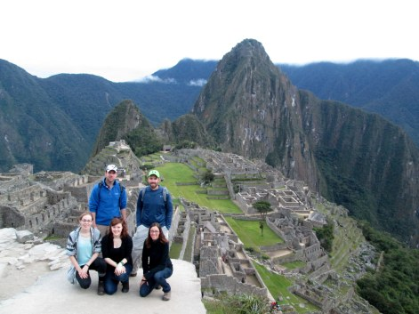 The Lares Trek gang and the wonder