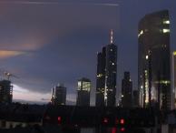 View from our hostel window, Frankfurt.
